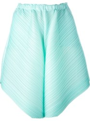 Issey Miyake Pleats Please By Pleated Shorts Blue