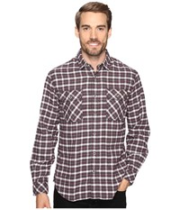 James Campbell Long Sleeve Woven Gonzalo Plaid Crimson Men's Long Sleeve Button Up Red