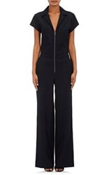 L'agence Women's Ella Heavyweight Plain Weave Jumpsuit Navy