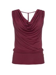 Relish Cowl Neck Top Red