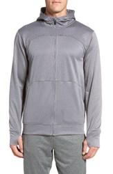 The North Face Men's 'Ampere' Zip Front Fleece Hoodie Mid Grey Asphalt Grey
