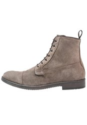 Geox Jaylon Laceup Boots Taupe Brown