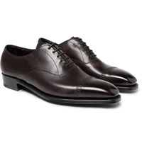 George Cleverley Nakagawa Cap Toe Leather Oxford Shoes Brown