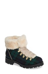 Jack Rogers Charlie Faux Shearling Lined Bootie Midnight Green Fabric