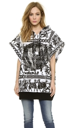 Ktz Sleeveless Sweatshirt White Black Print