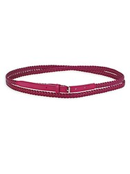 Faconnable Braided Leather Belt Pink