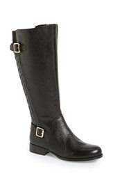 Women's Naturalizer 'Jalyn' Quilted Tall Boot Black Leather Wide Calf