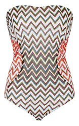 Missoni Mare Strapless Swimsuit Multi