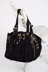 Free People Womens Charmed Suede Tote