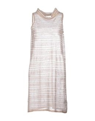 Malo Short Dresses Dove Grey