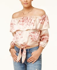 American Rag Juniors' Off The Shoulder Top Created For Macy's Pink