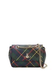 Vivienne Westwood Derby Mini Coated Canvas Shoulder Bag Hunting Tartan