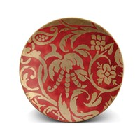 L'objet Fortuny Dessert Plate Uccelli Red