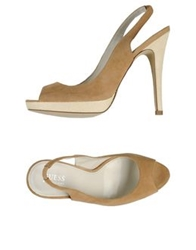 Guess By Marciano Sandals Camel