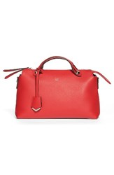 Fendi 'Small By The Way' Convertible Leather Shoulder Bag Red