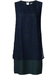 Grey Jason Wu Embroidered Overlay Shift Dress Black