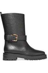 Marni Textured Leather Boots Black