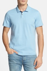 1901 Trim Fit Cotton Jersey Polo Blue