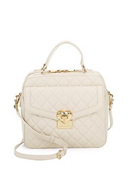 Love Moschino Quilted Leather Satchel Ivory