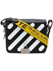 Off White Printed Satchel Leather Black