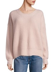 Vince Rib Knit Hi Lo Sweater Sand Winter White