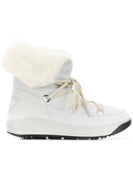 Emporio Armani Ea7 Lace Up Boots White