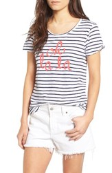 Sundry Women's Oh La La Split Sleeve Cotton Tee