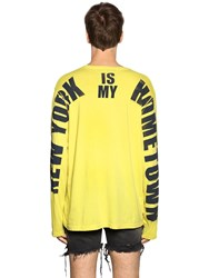 Faith Connexion My Hometown Jersey Long Sleeve T Shirt Yellow