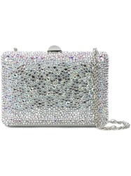 Rodo Crystal Covered Clutch Grey