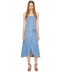 See By Chloe Denim Overall Dress Washed Indigo Women's Dress Navy
