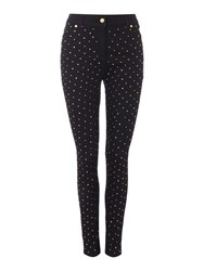 Biba Fully Embellished Skinny Grace Jeans Black