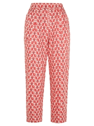 People Tree Orla Kiely Wallflower Trousers Pink