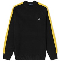 Fred Perry Broken Tipped Crew Knit Black
