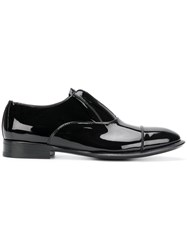 Alexander Mcqueen Slip On Derby Shoes Men Calf Leather Leather Patent Leather 42 Black