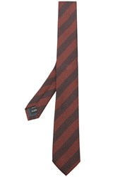 Z Zegna Striped Tie Brown