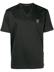 Billionaire V Neck T Shirt Black