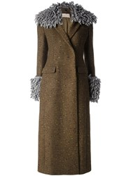 Christopher Kane Long Tailored Coat Brown