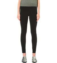 Helmut Lang Basic Reflex Stretch Gabardine Leggings Black
