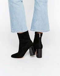 Truffle Collection Unlined High Ankle Boot Black Patent Heel