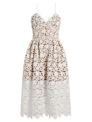 Self Portrait Azaelea Lace Midi Dress White