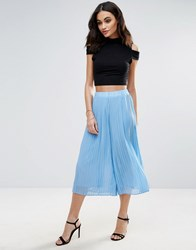 Jovonna Quiet Moment Pleated Culottes Blue