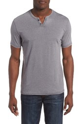 Lucky Brand Men's Burnout Notch Neck T Shirt
