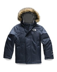 The North Face Greenland Down Hooded Jacket W Faux Fur Trim Size 2 4T Blue