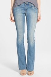 Genetic Denim 'Leaf' Low Rise Flare Jeans Lagoon Blue