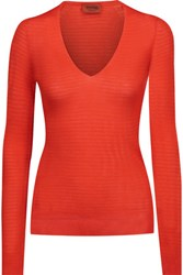 Missoni Ribbed Knit Top Bright Orange