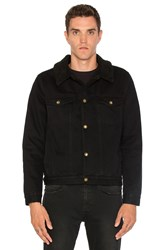 Rolla's Denim Faux Sherpa Jacket Black