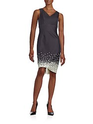 Karl Lagerfeld Polka Dot Hem Sheath Dress Multicolor
