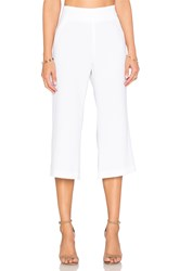 Enza Costa Cropped Flare Trouser Pant White