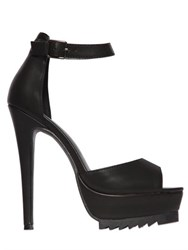 Nasty Gal 140Mm Bernese Faux Leather Sandals