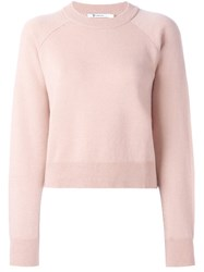 Alexander Wang T By Crew Neck Jumper Pink And Purple